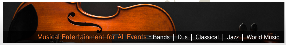 Musical Entertainment for All Events - Bands | DJs | Classical | Jazz | World Music